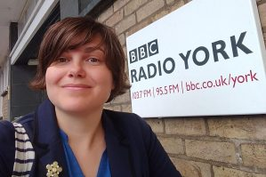 Katie outside Radio York