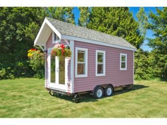 pink tiny house