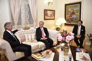 Foriegn Minister Shah Mehmood Qureshi on his visit to Germany