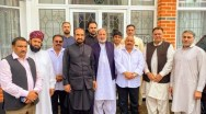 Community members after condolance on the sad demise of Azaal chaudhry mother