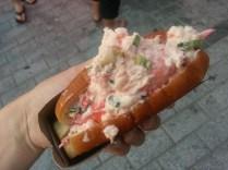 My dinner: Lobster Roll ($16)