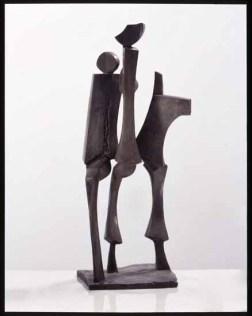 Dreier Gespraech 60x35x30 cm 1995 bronze