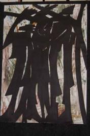 Dark dicussion 70x100 cm