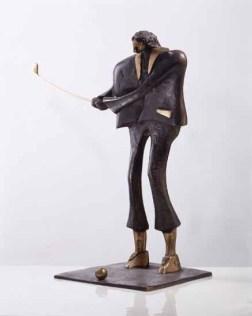 Golfer 80x60x35 cm 2001 bronze