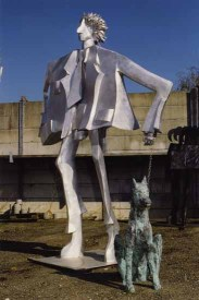 Mann mit Hund 220x150x110 cm 2004 alluminium