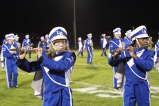 Band does a great job at the half-time show.
