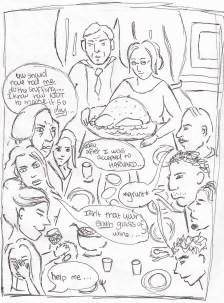 """""""Want Freedom from Family"""" Illustration by: Nora Hilgart-Griff"""