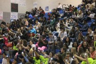 """Junior Isabella Valdez laughs during the mummy game while the song """"Fireworks"""" from Katy Perry was playing at the Pep Rally. """"I can't remember what I was laughing at that hard but whatever it was it was hysterical,"""" said Valdez."""