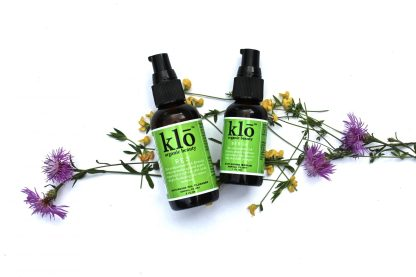 Klo Organic Beauty oil cleanser and serum duo for normal-dry skin.