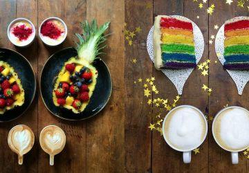 Milujúci priateľ pripravuje pre svojho priateľa každé ráno krásne a symetrické raňajky