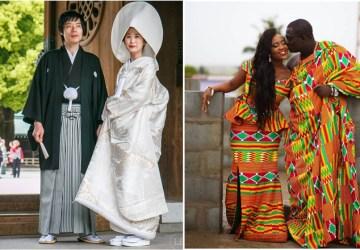 Tradičný svadobný odev je stále IN. Pozrite, aké róby nosia v ázijských a afrických krajinách