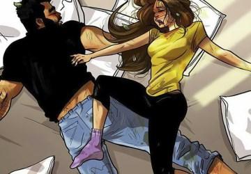 Umelec ilustruje každodenný život s jeho priateľkou. Nájdeš sa v jeho obrázkoch aj ty?
