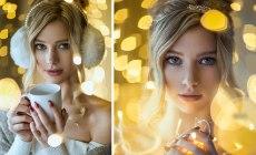 Fotografka predstavuje jednoduchý návod, ako vytvoriť úžasnú vianočnú selfie u seba doma
