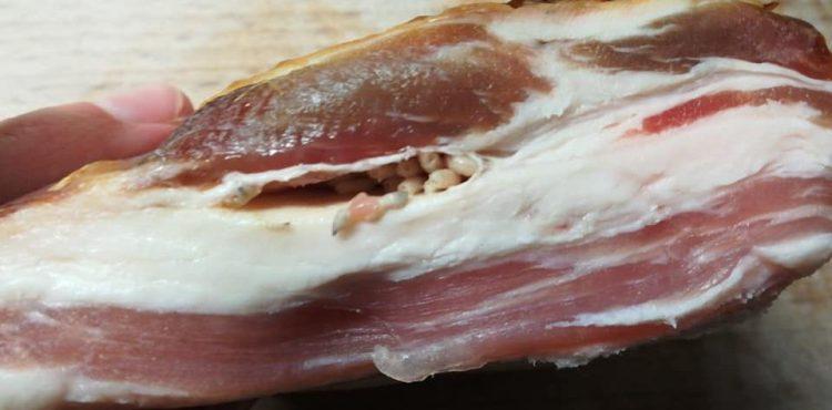 ODPORNÉ: Muž si kúpil gazdovskú slaninu, keď ju však rozkrojil, skoro sa dovracal. Bola plná nechutných červov!