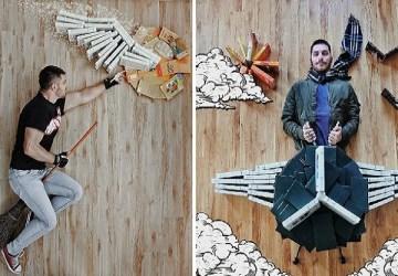 Skutočný milovník kníh! Mladý muž vytvára pomocou knižiek umelecké diela, aké ste ešte nevideli