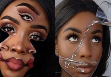 Táto umelkyňa vytvára na vlastnej tvári NESKUTOČNÉ OPTICKÉ ILÚZIE. Nad niektorými z nich budete neveriacky krútiť hlavou!