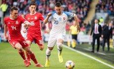 Slovenskí futbalisti druhý zápas kvalifikácie nezvládli a bodovo vyšli naprázdno