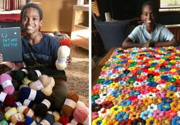 Jonah Larson z Etiópie má iba 11 rokov a vďaka háčkovaniu chce plniť deťom sny. Podporiť túto myšlienku môžete aj vy