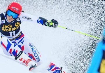 Petra Vlhová zvíťazila v obrovskom slalomev Špindlerovom Mlyne! Shiffrinová skončila tretia