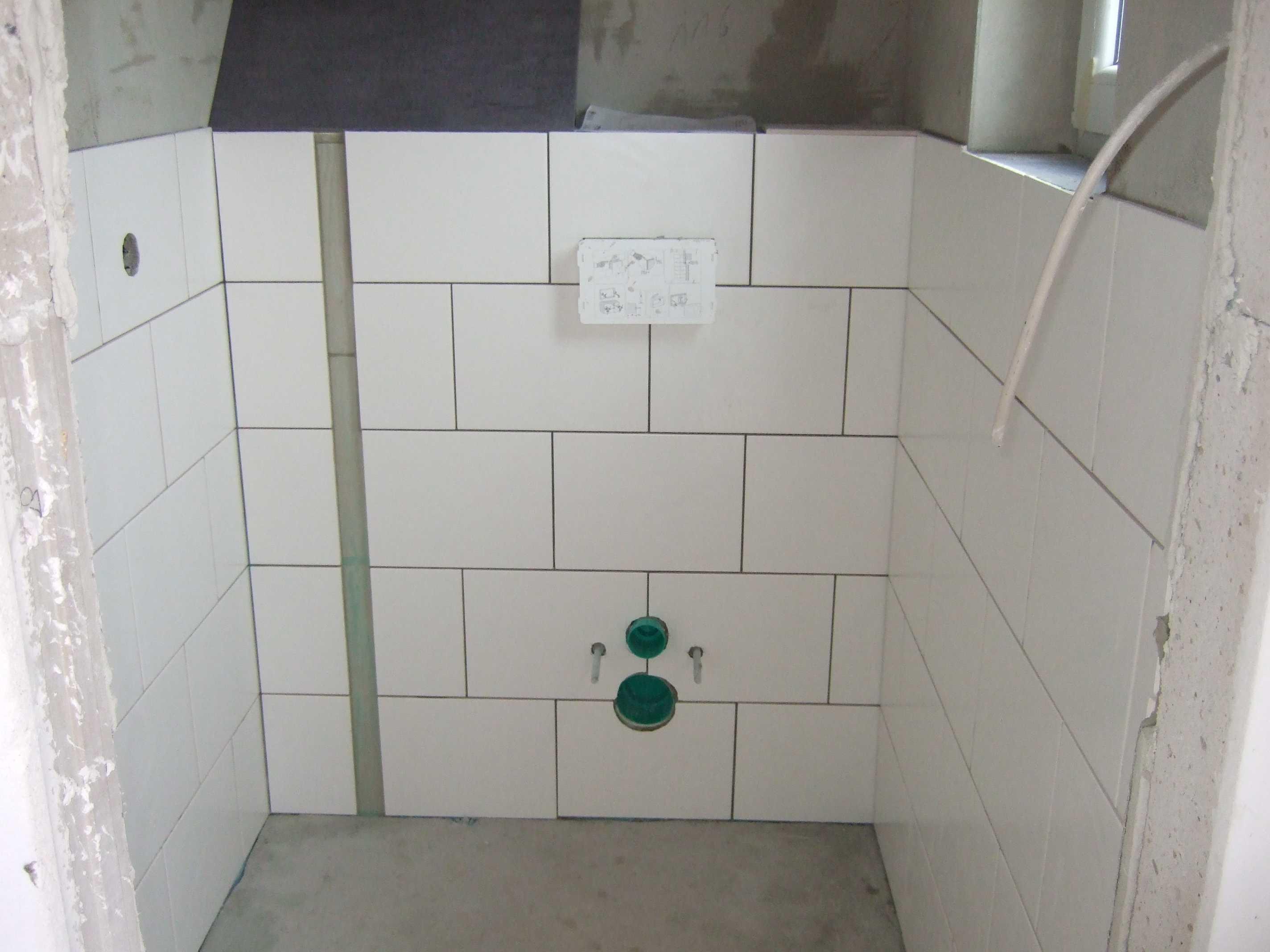 G ste wc verfliest klockenheide 29 der baublog - Verlegearten fliesen ...