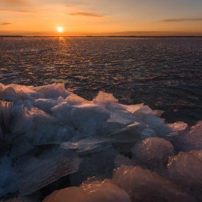 zonsopkomst ijs