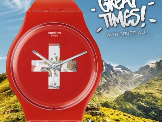 Reloj de color rojo Swatch de plástico