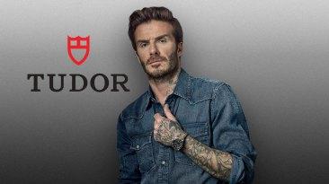 Tudor y su embajador David Beckham vstiendo el Black Bay Chrono