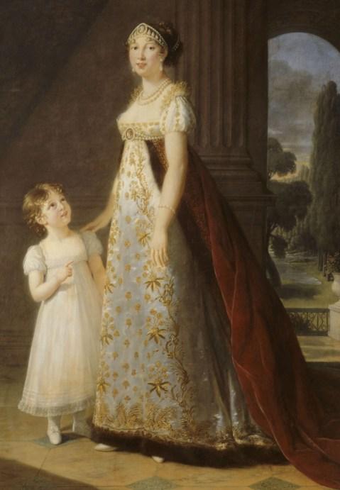 primer reloj de mano y Caroline Murat Reina de Náoles