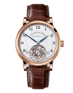 1815 Tourbillon por Reloj café con marco de oro y manecillas azules