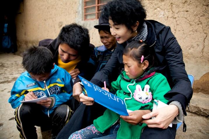 Niños chinos UNICEF