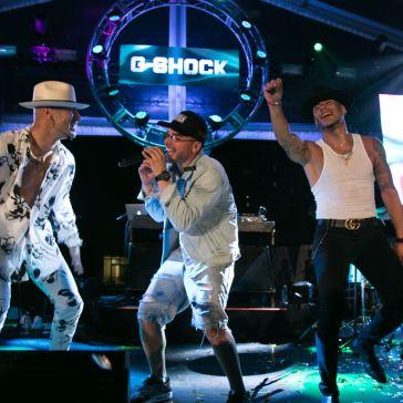 Cantantes presentes en el 35 aniversario de G-Shock en el Caribe