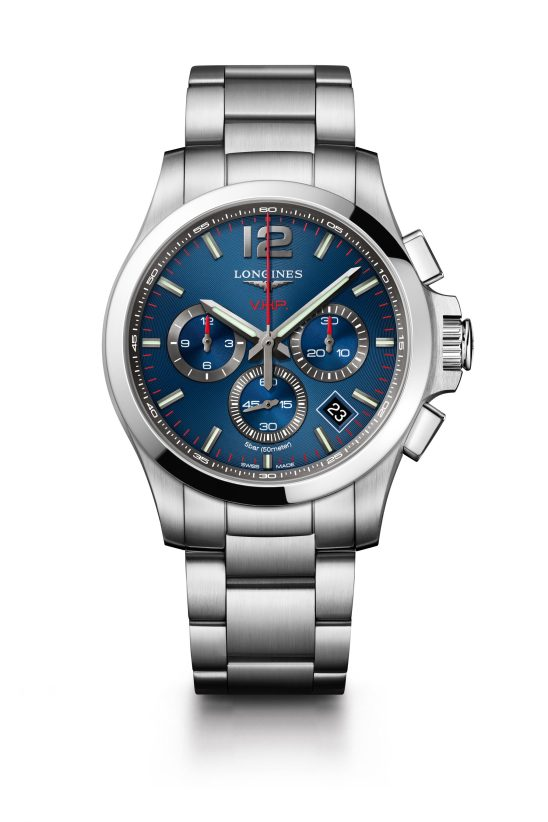 Reloj azul con detalles Longines modelo L3-717-4-96