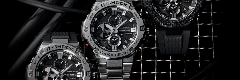 910ced7df13c 3 relojes G-SHOCK con fondo de color negro