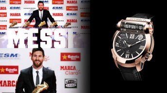 Lionel Messi en la portada con el reloj Epic SF24 Tourbillon