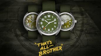 Reloj That's All Brother en color verde pálido con detalles plateados