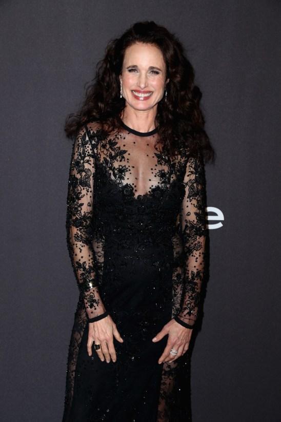 Andie Macdowell en los Golden Globes 2019