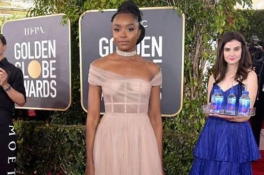 Kiki Layne en los Golden Globes 2019