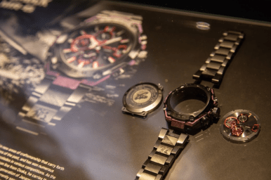 Arquitectura que constituye un reloj G-Shock