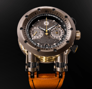 Reloj MW&CO con correas anaranjadas y detalles en bronce y blanco