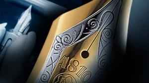 Montblanc Meisterstück en color dorado y plateado con el número 4810 grabado