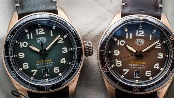 Relojes de color verde y cafe
