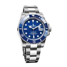 Rolex pitufo en color plateado con blanco y caratula en color azul