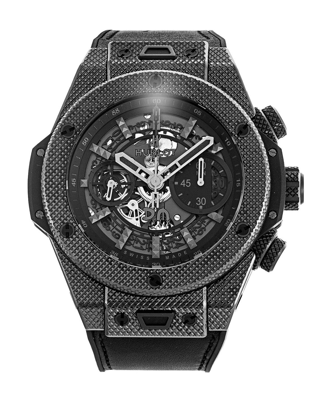 Reloj Hublot en color negro con detalles en color plateado