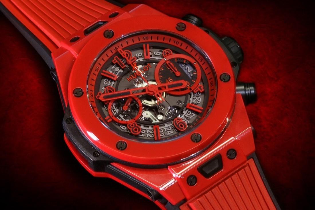 Reloj Big Bang Unico Red Magic en color rojo con detalles en plateado y negro