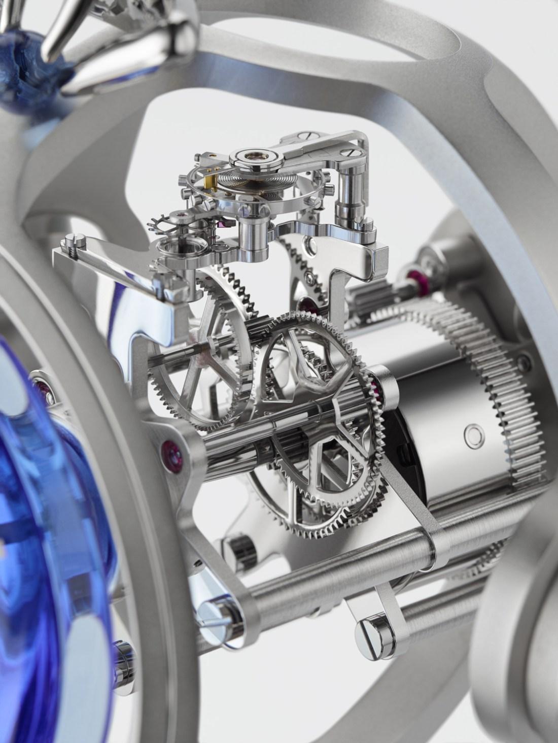 Vista de las piezas del reloj T-Rex