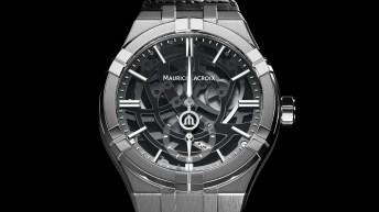 Reloj Maurice Lacroix en color plateado con detalles en negro