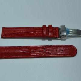 18mm rød skinnreim