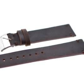 22 mm Vintage brun lærreim
