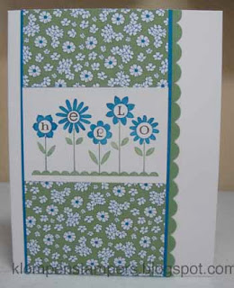 Another HELLO BLOSSOMS Card