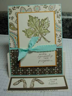 Gently Falling Easel Card